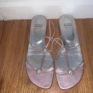 Stuart Weitzman Pink Sandals with embellishment
